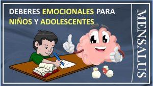 Deberes emocionales para adolescentes